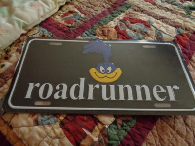 FOR SALE - ROAD RUNNER PLATE | For Plymouth Road Runners